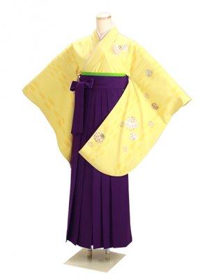 卒業式袴 黄 0264 紫袴【身長150cm位】