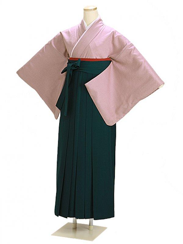 卒業式袴 正絹 薄紫 66 緑袴【身長150cm位】