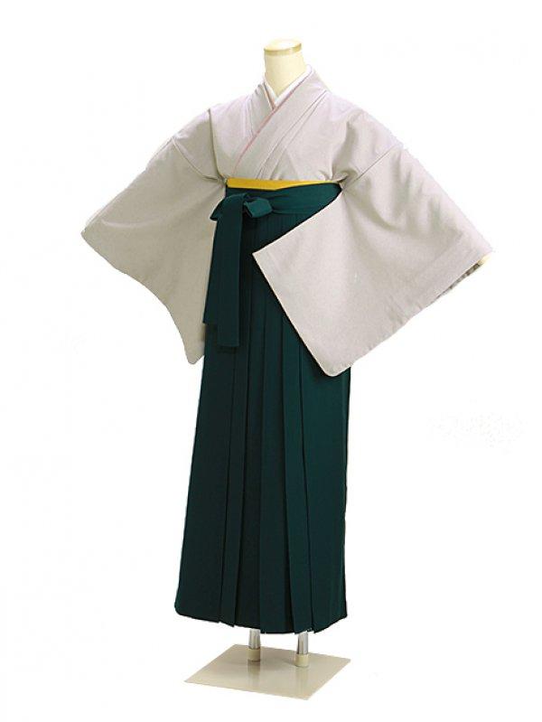 卒業式袴 薄グレー 93 緑袴【身長150cm位】