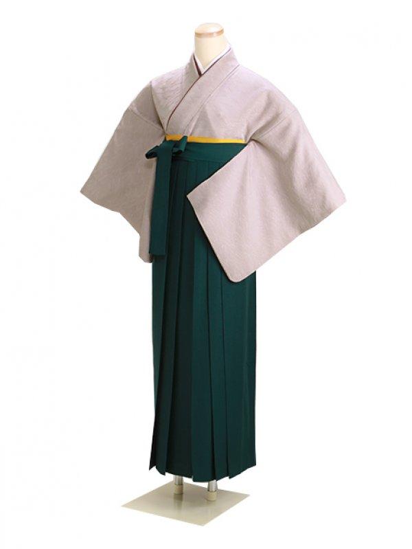 卒業式袴 正絹 ベージュ 54 緑袴【身長145cm位】