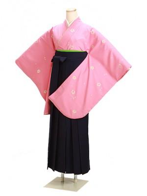 卒業式袴 ピンク 小桜 0239 紺袴【身長150cm位】