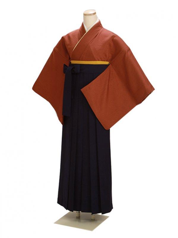卒業式袴 正絹 レンガ 75【身長160cm位】