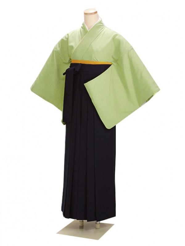 卒業式袴 ウグイス 90 紺袴【身長150cm位】