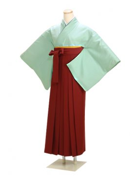 卒業式袴 正絹 ブルー 68【身長150cm位】
