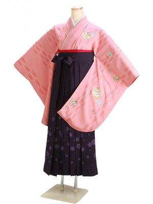 卒業式袴 ピンク 0266 柄袴【身長160cm位】