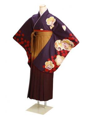 卒業式袴 紫 うさぎ 0269【身長160cm位】
