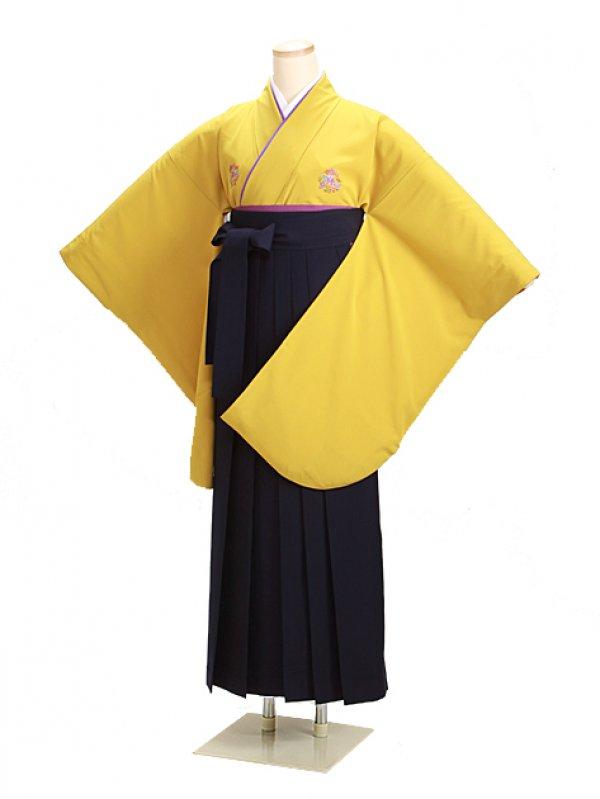 卒業式袴 からし 0219 紺袴【身長155cm位】