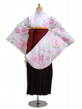 卒業式袴 シルバー 桜 0298【身長160cm位】