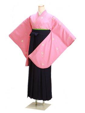 卒業式袴 ピンク 小桜 0237【身長165cm位】