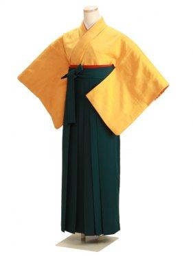 卒業式袴 正絹 山吹 39【身長145cm位】