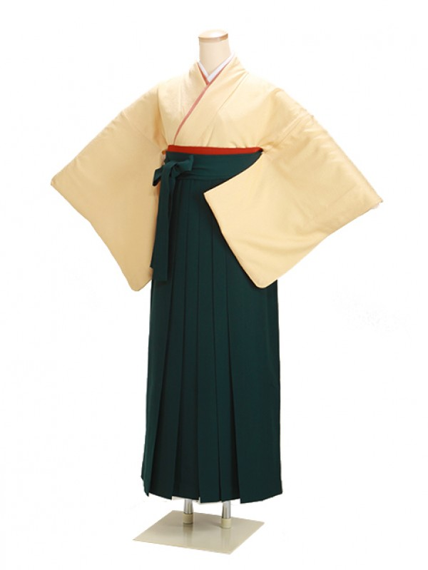 卒業式袴 正絹 クリーム 72【身長150cm位】