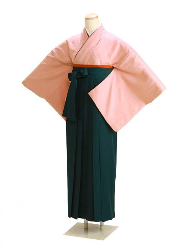 卒業式袴 正絹 肌色 67 緑袴【身長160cm位】