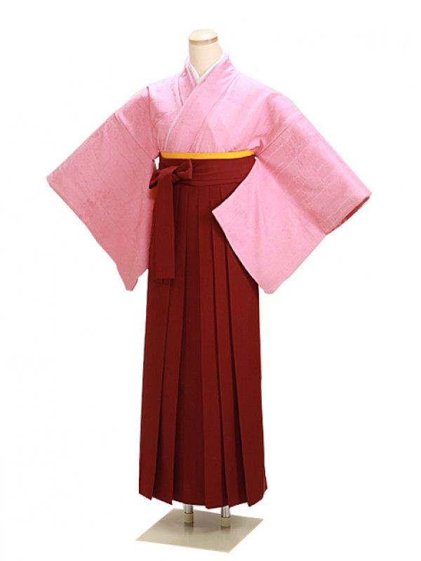 卒業式袴 正絹 ピンク 34【身長150cm位】