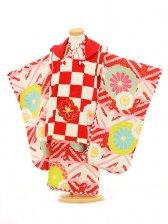 七五三(3女被布)3143 ジャパンスタイル 赤市松模