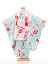 753レンタル(3歳女被布)03100白×水色バラ