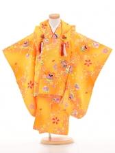 753レンタル(3歳女被布)03107黄桜と鈴