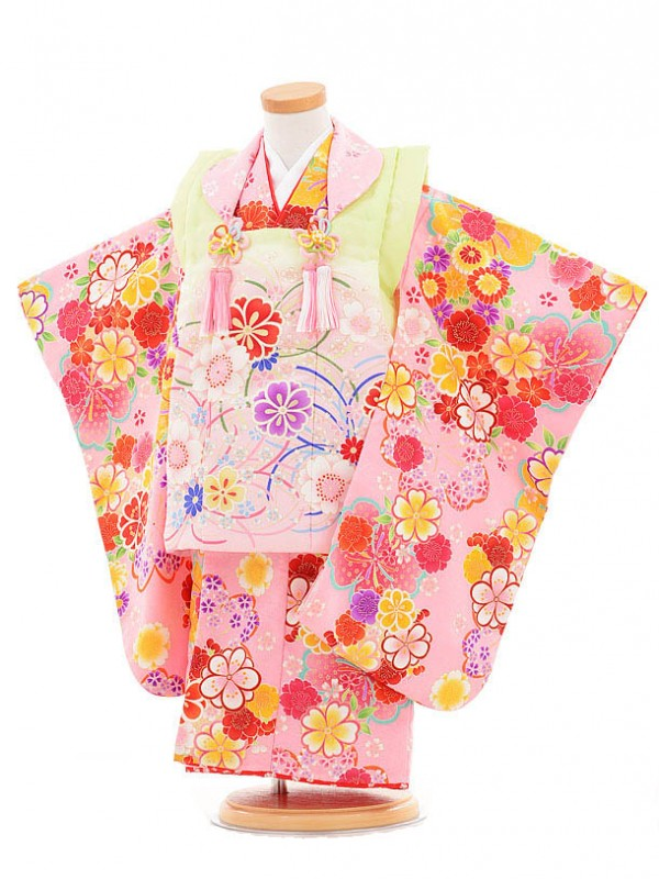 753レンタル(3歳女被布)03130 MaoMao 黄緑