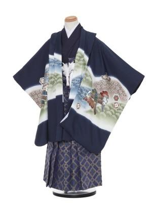 七五三(5歳男袴)8517紺兜/521