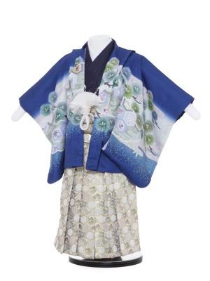 七五三レンタル(2歳男袴)2-2青地兜/1834