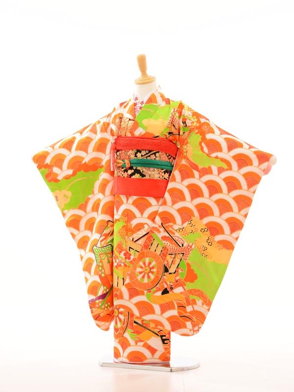 753レンタル(7歳女)7043菊26オレンジ清海波御