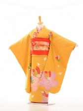 753レンタル(7歳女)7005カラシ地大輪桜蝶
