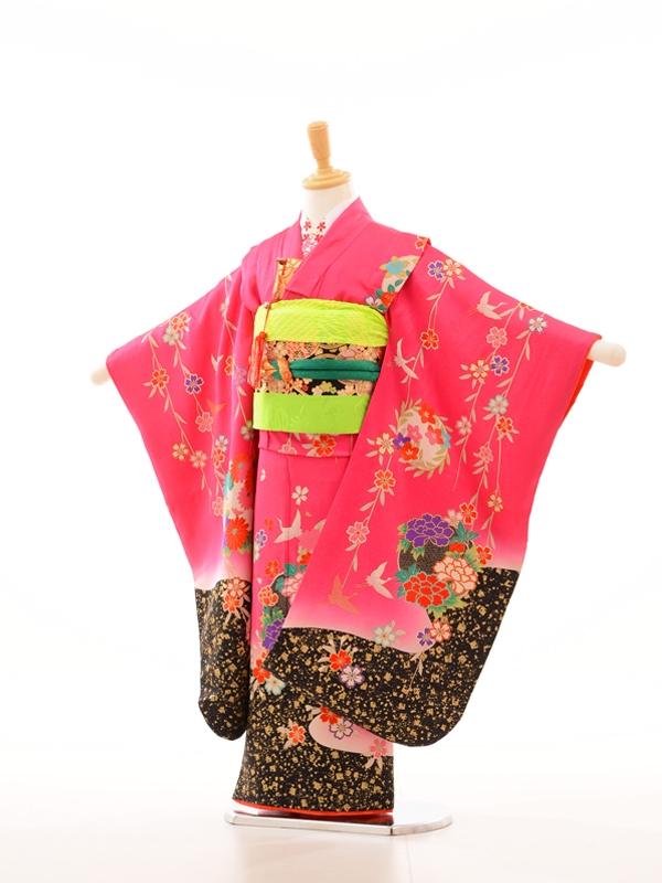753レンタル(7歳女)7031ローズピンクしだれ桜裾