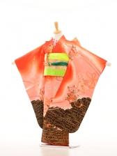 753レンタル(7歳女)7051オレンジ糸車裾黒
