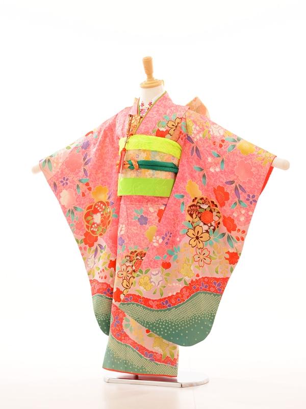 753レンタル(7歳女)7023まりピンクしもふり裾