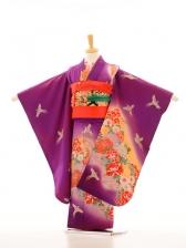 753レンタル(7歳女)7093紫地花に火の鳥
