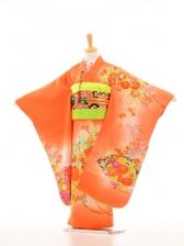 753レンタル(7歳女)7086乙女14オレンジ花リボン