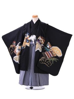 5歳 男の子 袴 H004 黒