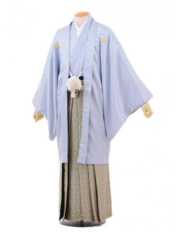 成人式卒業式袴レンタル(メンズ)D048シルバーグレー紋