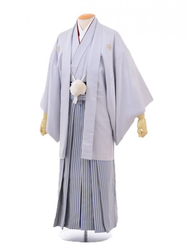 成人式卒業式袴レンタル(男)D029グレーシルバー紋付