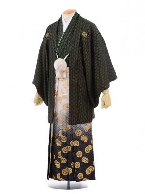 成人式卒業式袴レンタル(男)D022黒金寿紋付×ゴ