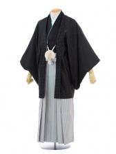 成人式卒業式袴レンタル(メンズ)D050黒ドット羽織×