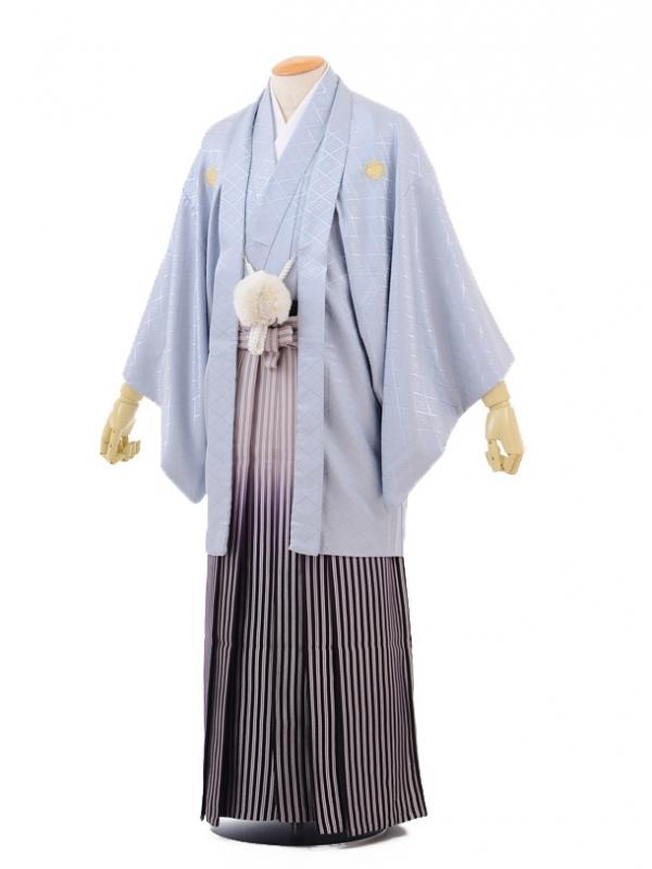 成人式卒業式袴レンタル(男)D003シルバーグレー紋付