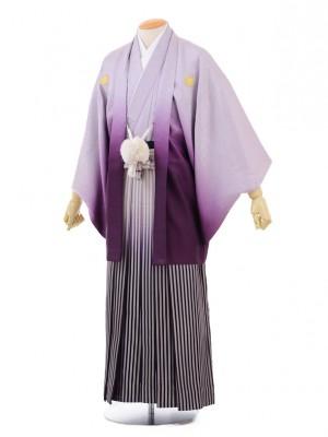 成人式卒業式袴レンタル(メンズ)D049紫ぼかし紋付
