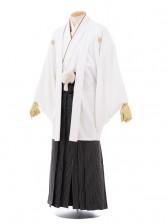 成人式卒業式袴レンタル(男)D019白紋付×黒シルバ