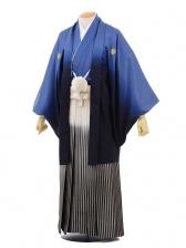 成人式卒業式袴レンタル(メンズ)D052ブルーぼかし紋