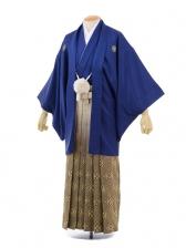 成人式卒業式袴レンタル(男)D011紺紋付×ゴールド