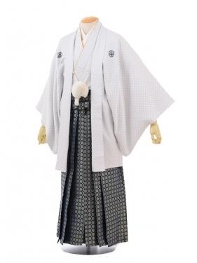 成人式卒業式袴レンタル(メンズ)D054白シルバー刺子