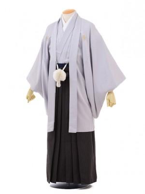 成人式卒業式袴レンタル(メンズ)D053グレー紋付×黒