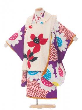 七五三(3女)3093 紫色/ひまわり