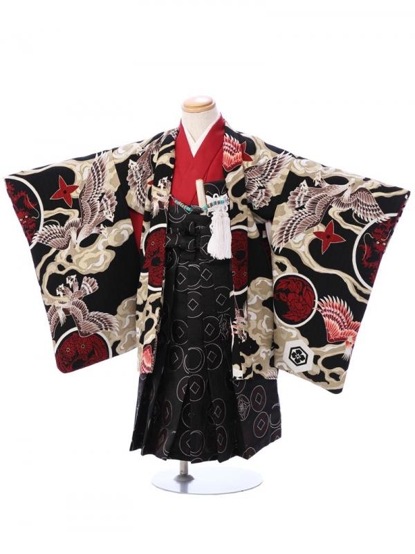 七五三(3歳男)3004 内田篤人J.S. 黒 /黒 丸紋袴