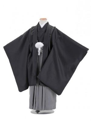 七五三レンタル(5歳男袴)5027 黒無地