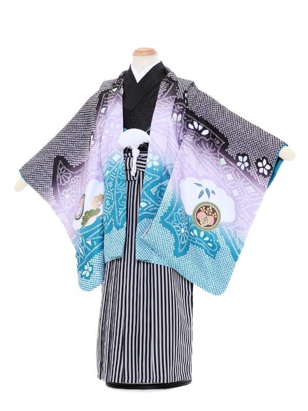 七五三レンタル(3歳男袴)5062 陽気な天使 多色 鷹と打出の小槌