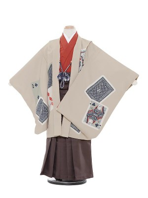 七五三レンタル(5歳男袴)5011 LILLI トランプ茶