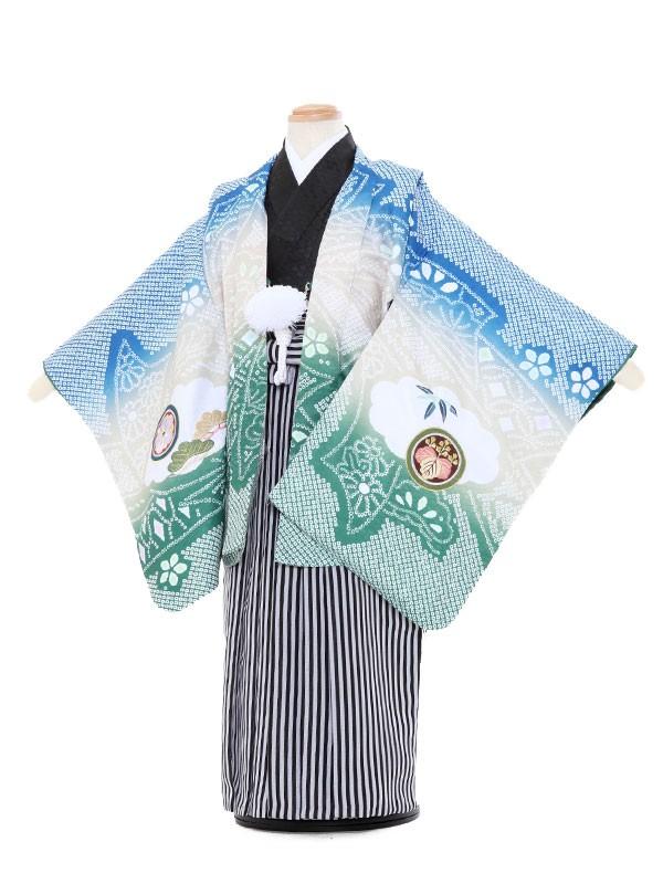 七五三レンタル(3歳男袴)5057 陽気な天使 兜と打出の小槌