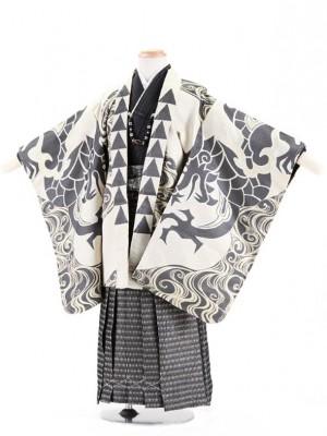 七五三レンタル(5歳男袴)5025 おりびと ゴールド 流水と龍