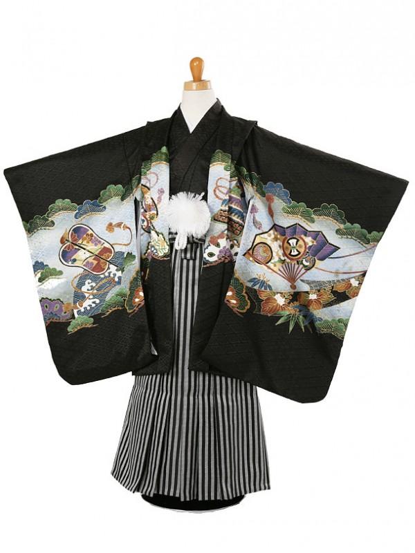 七五三(5歳袴)161-201兜に軍配と小槌